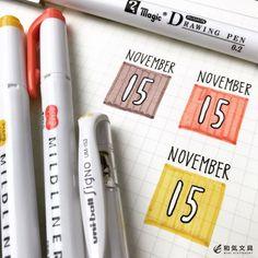 いいね!442件、コメント6件 ― 文房具の和気文具さん(@wakibungu)のInstagramアカウント: 「本日の一枚。昨日に引き続き和み色のマイルドライナー。日付は白ペンで書いてから黒で縁取りしました。白ペンをどう使うか考えるのは楽しいですね(^^) #マイルドライナー #ゼブラ #シグノ #白ペン…」