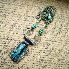 Ripples Upon the Desert Floor, Kingman turquoise and  fold forming necklace by Anvil Artifacts
