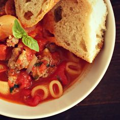 One-Pot Recipe {Italian Sausage Soup
