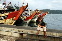 After a very early fishing trip in Kota Kinabalu, Malaysia  ©Steve Gillick