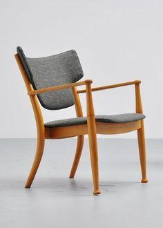 Peter Hvidt & Orla Mølgaard Nielsen; Beech and Beech Veneer 'Portex' Chair, c1944.