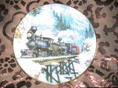 Winter Crossing Collector Plate Winter Rails Hamilton Train Ted Xaras