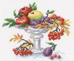 Bowl with Fruits Cross Stitch Kit   sewandso