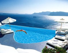 Best hotel I will ever stay at, fact. Take me back. Katikies, Santorini