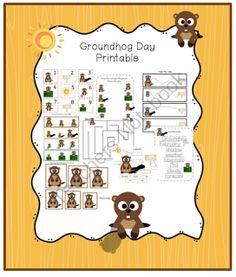 Free printable groundhog day greeting cards kid blogger network groundhog day printable m4hsunfo