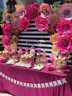 Stunning Kate Spade bridal shower party See more party planning ideas at CatchMyP Kate Spade Party, Kate Spade Bridal, Bridal Shower Party, Bridal Showers, Baby Showers, Baby Shower Candy Table, Bridal Shower Backdrop, Bridal Shower Desserts, Fiesta Shower