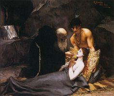 Rodolfo Amoedo, Morte de Atala, 1883.