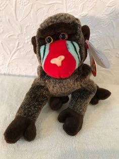 1999 Ty Original Beanie Babies CHEEKS The Baboon w Tags (8 inch)   20827c0e24c4