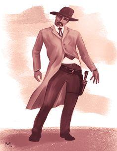 Wild West gunslinger, M Wickstrom Wild West, Hipster, Illustration, Style, Fashion, Swag, Moda, Hipsters, Stylus