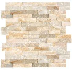 Stacked Stone Backsplash, Stone Kitchen Backsplash, Natural Stone Backsplash, Stacked Stone Walls, Stacked Stones, Kitchen Floor, Backsplash Ideas, Diy Kitchen, Kitchen Ideas