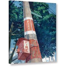 ArtWall Paige Wallis Fire Fire Gallery-wrapped Canvas, Size: 24 x 32, Red