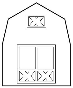 Barn Template - I created this barn template to use for my sons first birthday invitations but also as a template for the iced sugar cookies Im going to make as party favors.  Enjoy!