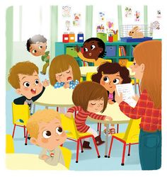 Roll call for pre-k People Illustration, Children's Book Illustration, Character Illustration, Kid Character, Character Design, Illustrations And Posters, Clipart, Cute Art, Childrens Books