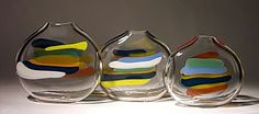Stripes: Bengt Hokanson, Trefny Dix: Art Glass Vase   Artful Home