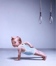 Funny Kids child Humor working out fitness