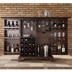 antique dark brown wood small bar design for sweet home with gorgeous folding bar table style and admirable wine rack also enchanting wine glass hangers charming home bar design