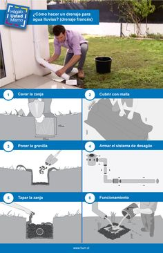 Funny Test, Drainage Ideas, Diy And Crafts, Mario, Home Improvement, Cool Stuff, Design, Gardens, French Drain