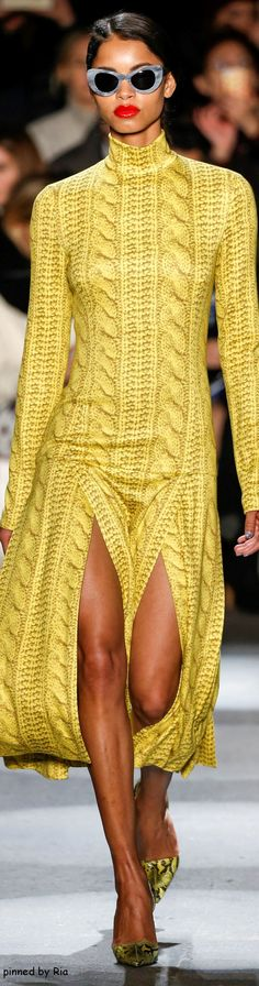 Christian Siriano Fall 2016 RTW l Ria Whoa! It's like, knitted print, but not actually knitted I love this!