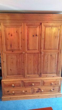 Large pine wardrobe in Home, Furniture & DIY, Furniture, Wardrobes | eBay