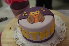 Cake owl, buho fondant