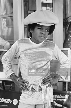 American singer Michael Jackson (1958 - 2009) outside at the ABC Studios, 9th July 1971.