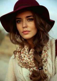 ...nice photography idea with hair and hat