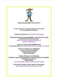 Munmotoriskt kompendium Games For Kids, Activities For Kids, Learn Swedish, Swedish Language, Pippi Longstocking, Music Classroom, Working With Children, Special Needs, Speech And Language