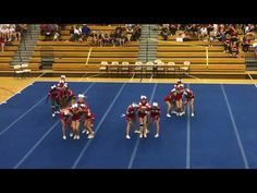 Love the transition after the lib and twist down. Easy Cheerleading Stunts, High School Cheerleading, College Cheer, Cheer Coaches, Cheer Mom, Cheer Stuff, Easy Cheers, Cheer Pyramids, Cheer Dance Routines