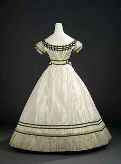 For the belle of the ball! 1867 evening dress by Charles Fredrick Worth, The Royal Ontario Museum.