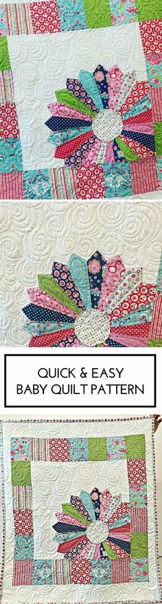 Quick and Easy Dresden Baby Quilt Pattern