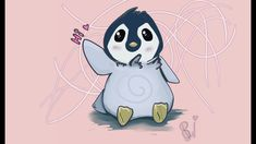Drawing in Krita: Happy world Penguin day How to draw a penguin Penguin Day, Penguins, My Arts, Make It Yourself, World, Drawings, Happy, The World, Sketches