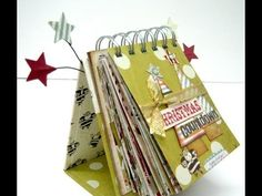 Christmas Countdown Calendar Tutorial - YouTube  I think this mini with a stand will work well for the Flower Technique book I want to make.