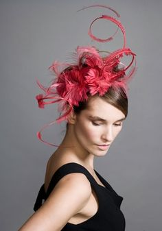 Feather headpiece by Rachel Trevor-Morgan