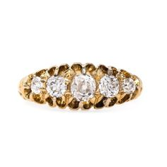 Victorian diamond five stone ring // Kingsbridge from Trumpet & Horn // $2,950