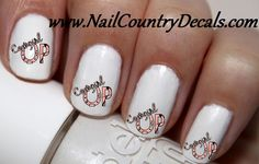 50 pc COWGIRL UP  Nail Decals Nail Art Nail Stickers Best Price You Pick The Color 3 To Pick From NC1217
