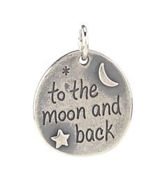 James Avery 'To the Moon and Back' Sterling Silver Charm - we've all told our kids how much we love them; now we can make sure they remember every day! (OR, if you're over the age of 50 and remember The Honeymooners TV show with Jackie Gleason, this would be perfect for Ralph to Give to Alice - to the moon and back, Alice!! )