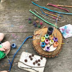 """Katie on Instagram: """"""""Play is the highest form of research,"""" ~Albert Einstein.  Gorgeous pic of our Gnomes playdough kit by @homeofthewildlings. """" Reggio Classroom, Classroom Projects, Art For Kids, Crafts For Kids, Reggio Emilia Approach, Finger Gym, Montessori Art, Play Centre, Kids Board"""