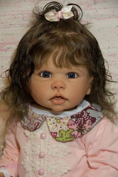 "New Release Reborn Toddler Girl Doll Tippi By Linda Murray & The Cradle 30"" Tall"