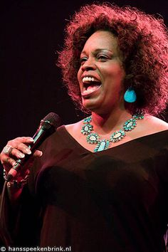 Jazz Vocalist Dianne Reeves--one of the best singers I know of. Do not miss seeing her in person--she will blow you away!!