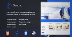 Download and review of Finance & Consultancy Business WordPress Theme - Sandal, one of the best Themeforest Corporative themes
