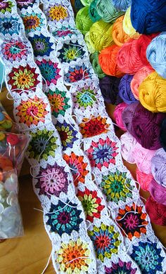 granny squares in so many colors!