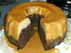 Chocolate Flan Cake (This is the same as the cake served at my wedding. It's easy to make and SOOOO good.)