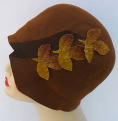 Vtg Antique 1920s Orig Rootbeer Brown Wool Felt Flapper Cloche Hat Downton Abbey | eBay