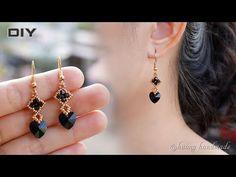 Fringe Earrings, Pendant Earrings, Bead Earrings, Handmade Beads, Earrings Handmade, Handmade Jewelry, Bead Jewellery, Beaded Jewelry, Swarovski