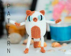 Crochet amigurumi Cake the cat doll pattern chart Adventure