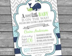 Whale Baby Shower Invitation   Printable Invitation   Whale Invite   Boy  Babyu2026 | Baby Shower Invites | Pinterest | Baby Shower Nautical, Boy Baby  Showers ...