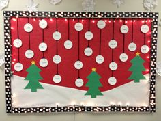 christmas bulletin board wtrees snow