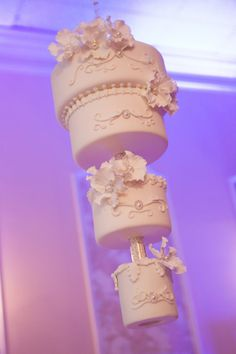 With Kaley Cuoco's wedding cake all over the place right now thought I'd share my sister's hanging wedding cake we did for her wedding in July 2012.    Love the idea of hanging cakes and hope more people go for it! www.toonicetoslice.ca