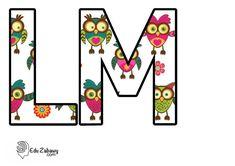 Sówki: litery duże Creative Ideas, Playing Cards, Symbols, Letters, Art, Diy Creative Ideas, Art Background, Icons, Kunst
