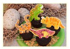 Dinosaur Cookie Cupcakes are sure to satisfy your sweet tooth! Cupcake Cookies, Cupcakes, Dinosaur Cookies, Nick Jr, After School Snacks, Creative Food, Finger Foods, Sweet Tooth, Dan